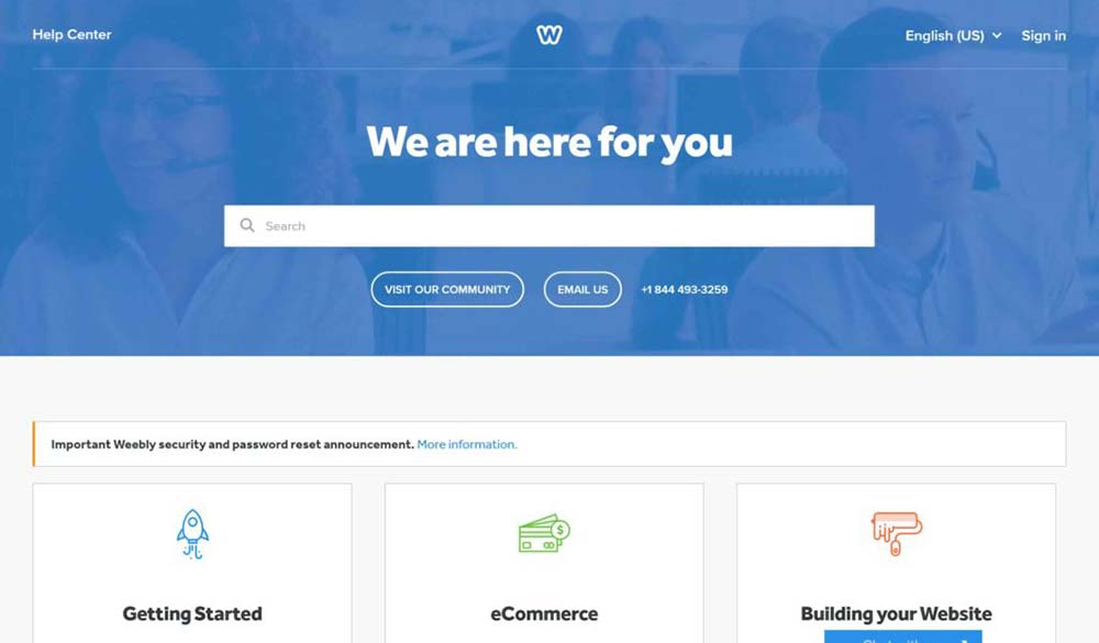 weebly review customer support 1