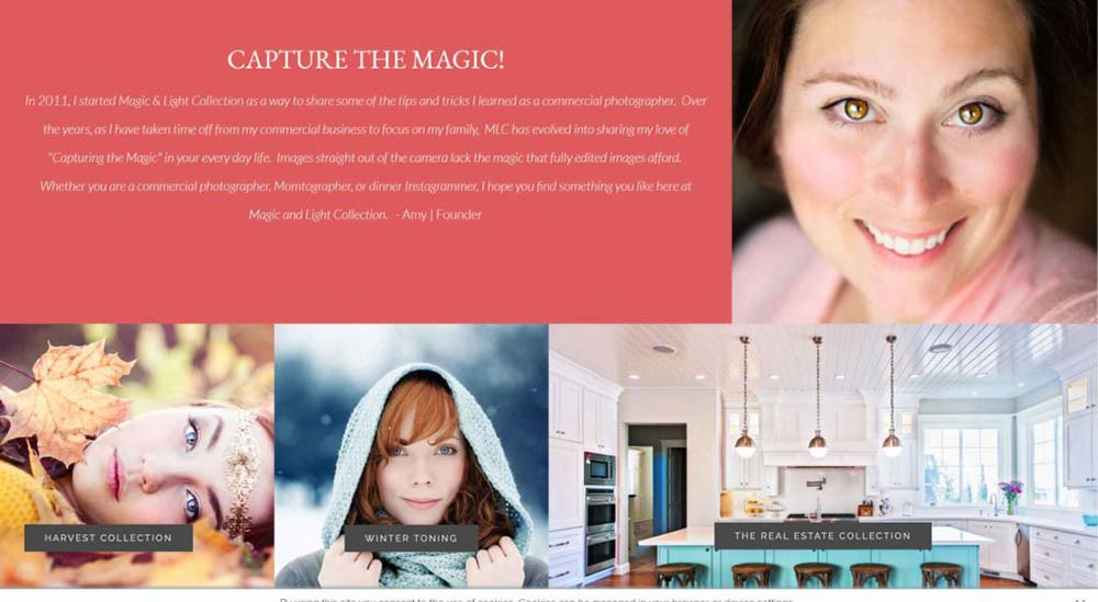 magic and light collection photography website 1